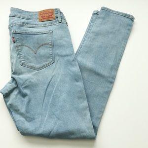Levi's Light wash 711 skinny jeans